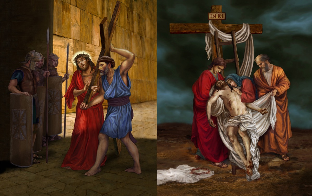 Stations of the Cross, Station Five and Thirteen